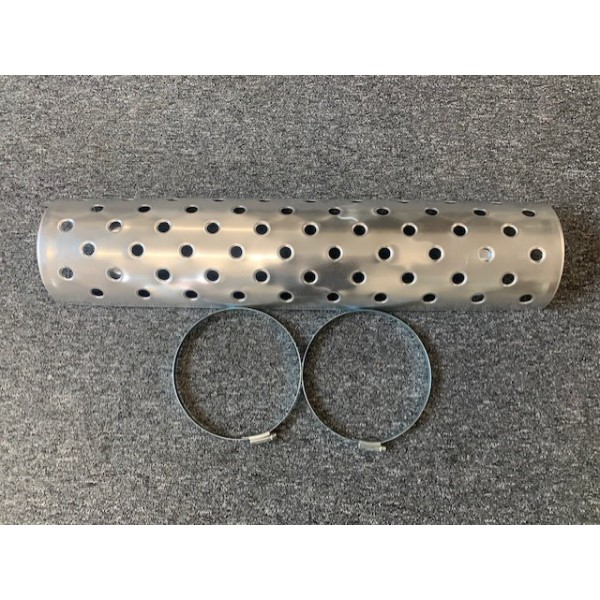 """Polished Aluminium Exhaust Cover for 5"""" Silencer"""
