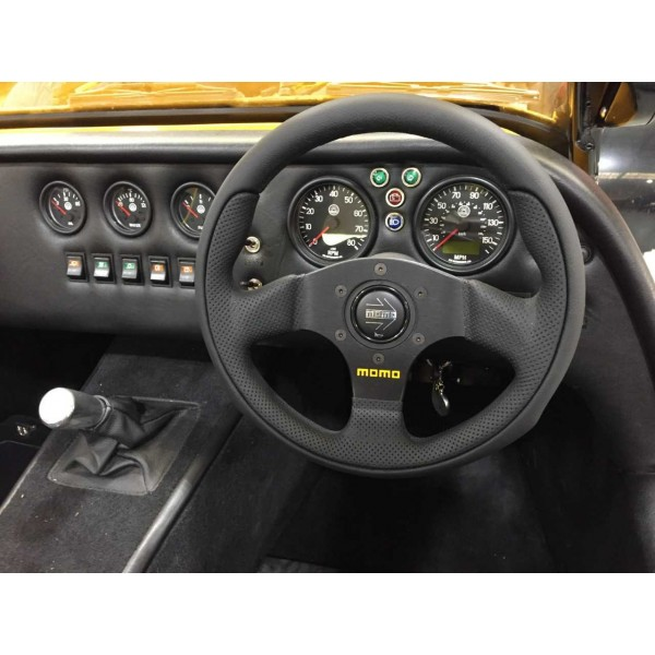 Momo Team 280 mm Steering Wheel, Quick Release and Inner Column.