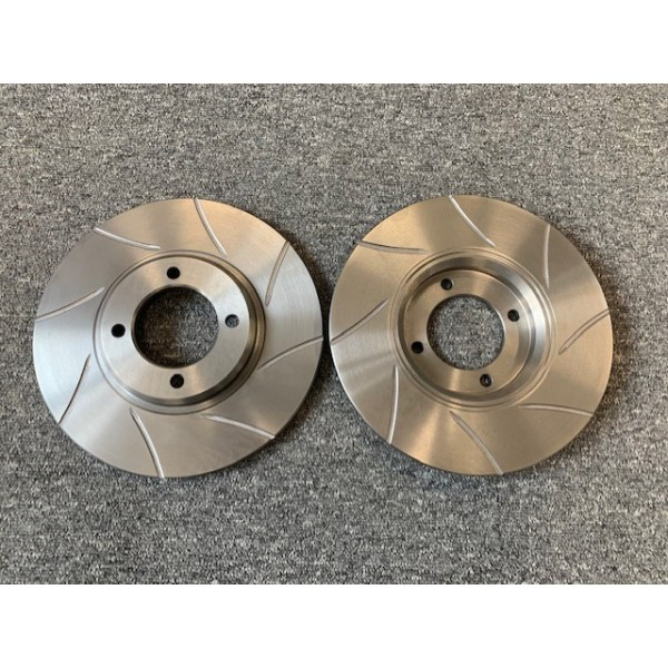 Grooved Front Brake Discs Pair
