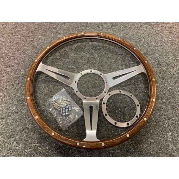 """Chesil Steering Wheel- Riveted 15"""" Mota Lita"""