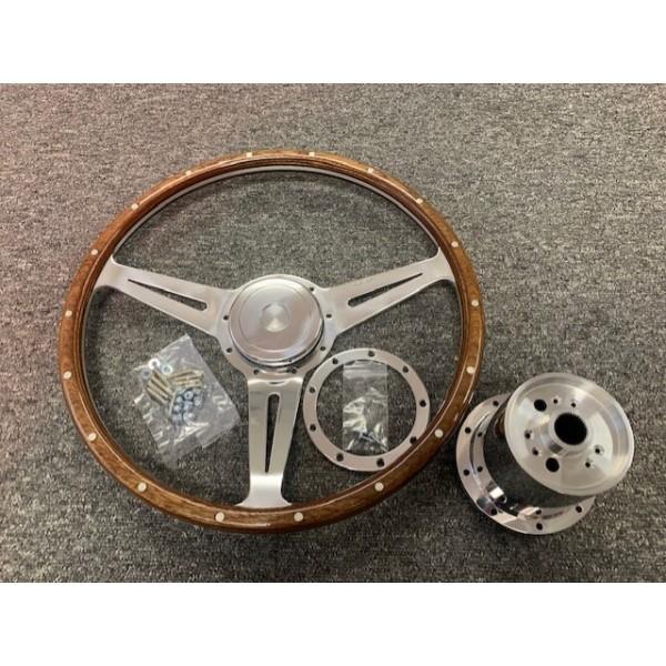 "Chesil Steering Wheel Kit - Riveted 15"" Mota Lita - Polished"